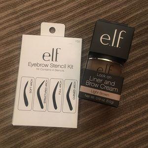 ELF lock on liner/brow cream & stencils